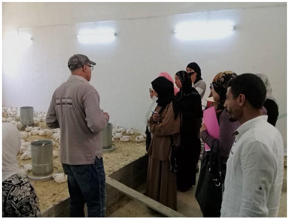 Les 10 bénéficiaires en formation pratique accompagnées par Ramzi (notre coordinateur local)