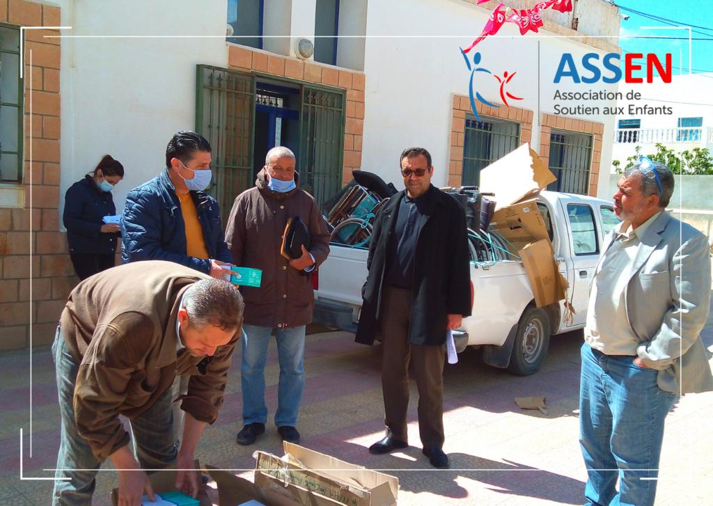 Acheminement matériel médical par les bénévoles ASSEN