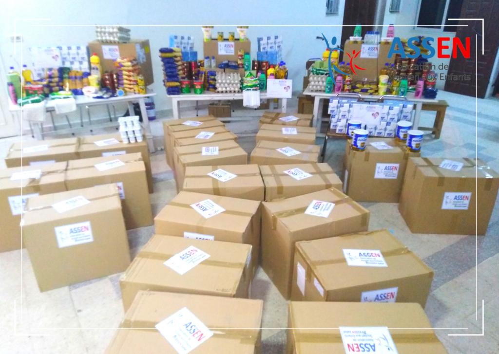 Distribution des packs d'urgence aux familles démunies en Tunisie